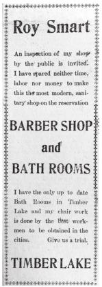 Ad from the Timber Lake Topic September 1910